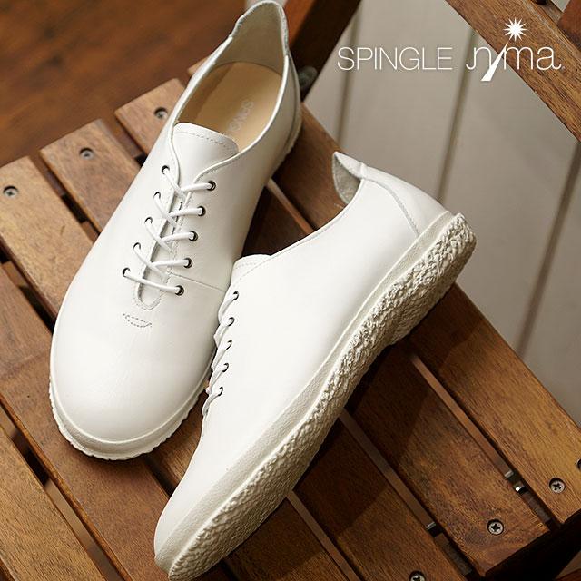 【即納】SPINGLE nima スピングルニーマ レディース VICHY SPINGLE MOVE スピングルムーブ フラットシューズ 靴 スニーカー ホワイト (NIMA-123)【コンビニ受取対応商品】