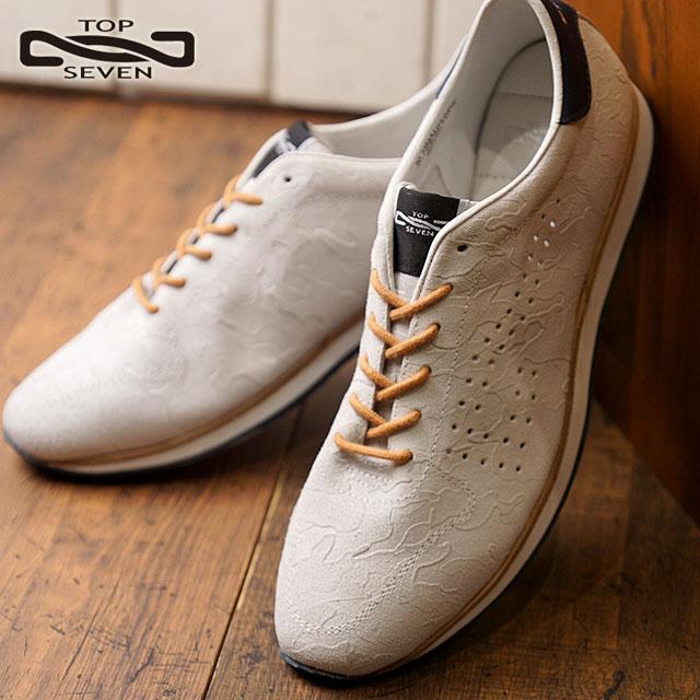 SHOETIME | Rakuten Global Market: TOP SEVEN top seven TS-7703 suede leather sneakers CAMO WHT men Lady's shoes shoes (TS-7703 CAMO SS18)