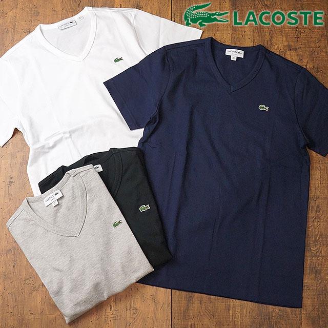 f86488aca5 LACOSTE Lacoste mens V-NECK TEE V Neck T shirt (TH631E)