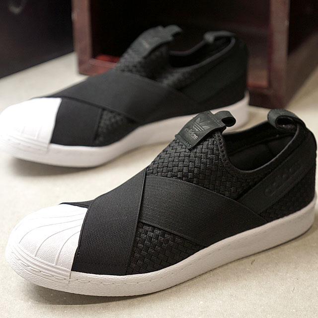 official photos 3dcb3 908c7 adidas Adidas sneakers shoes men originals SS SlipOn superstar slip-ons  core black   core black  R white (CQ2487 SS18)