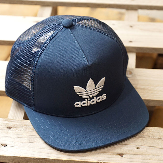 f9660444 adidas Adidas hat men Lady's TREFOIL TRUCKER CAP トレフォイルトラッカーメッシュキャップ adidas  Originals Adidas originals ...