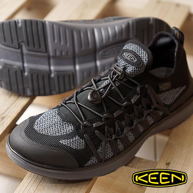 KEEN キーン ユニーク スニーカー 靴 メンズ M UNEEK EXO ユニーク エクソ BLACK/STEEL GREY (1018766 SS18)【e】