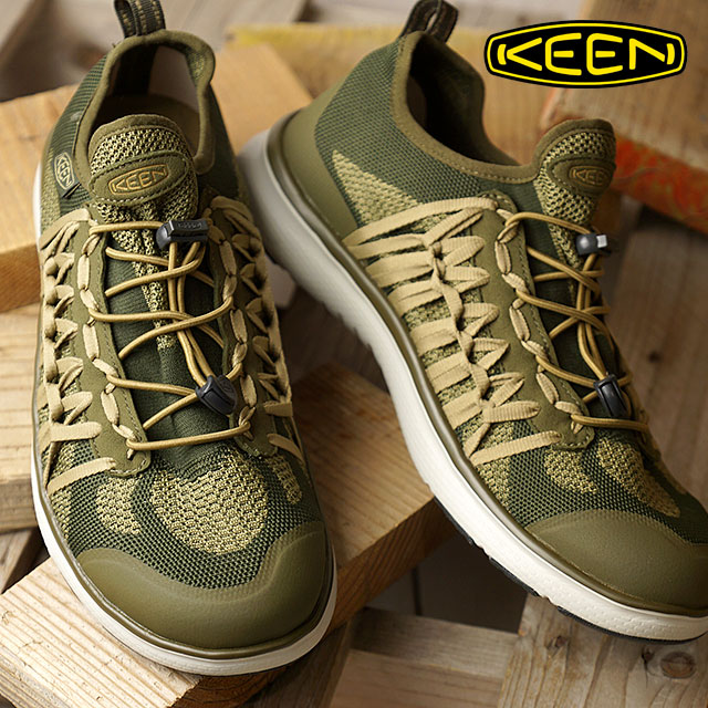 KEEN キーン ユニーク スニーカー 靴 メンズ M UNEEK EXO ユニーク エクソ Dark Olive/A.Brass (1018768 SS18)【コンビニ受取対応商品】