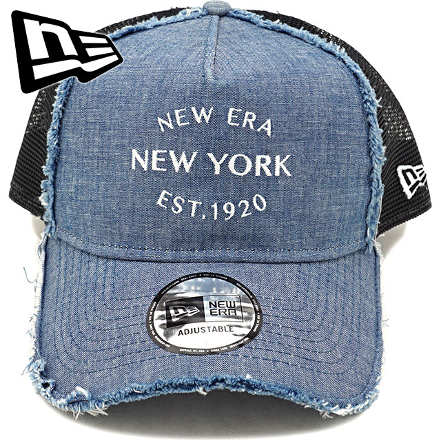 finest selection 672d7 0c8ab NEWERA new gills cap New Era chambray 9FORTY A-frame trucker snapback mesh cap  hat (11557396 SS18)
