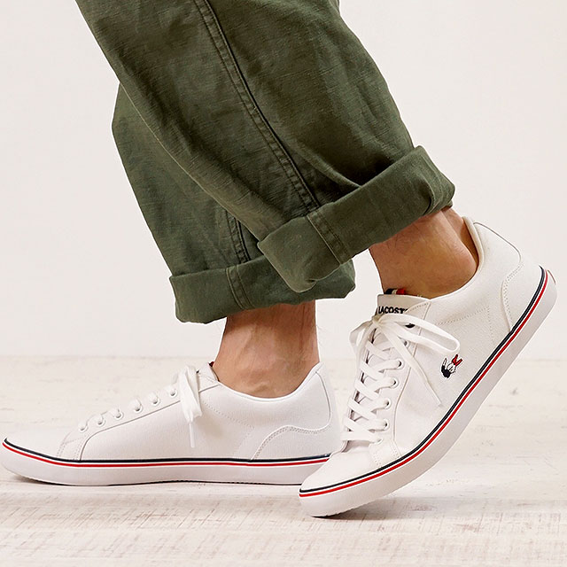 LACOSTE Lacoste sneakers shoes men LEROND 218 1 QSP レロンドホワイト (CAM0148-21G  SS18Q2) 3f014df710