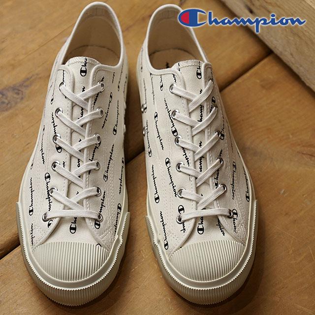 【即納】【日本製】Champion Footwear チャンピオン フットウェア スニーカー 靴 ROCHESTER LO CVS ロチェスター ロー キャンバス メンズ・レディース MONO WHITE (C2-M705 SS18)【コンビニ受取対応商品】