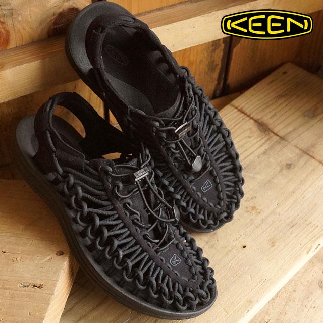 【即納】KEEN キーン レディース サンダル 靴 UNEEK 3C WOMEN ユニーク スリーシー Black/Black (1014099 SS16)