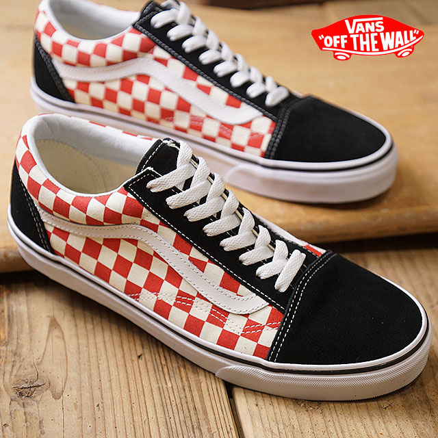 86e127b9464 VANS vans men sneakers shoes Checkerboard Old Skool checkerboard old school  black red black   red (VN0A38G135U SS18)