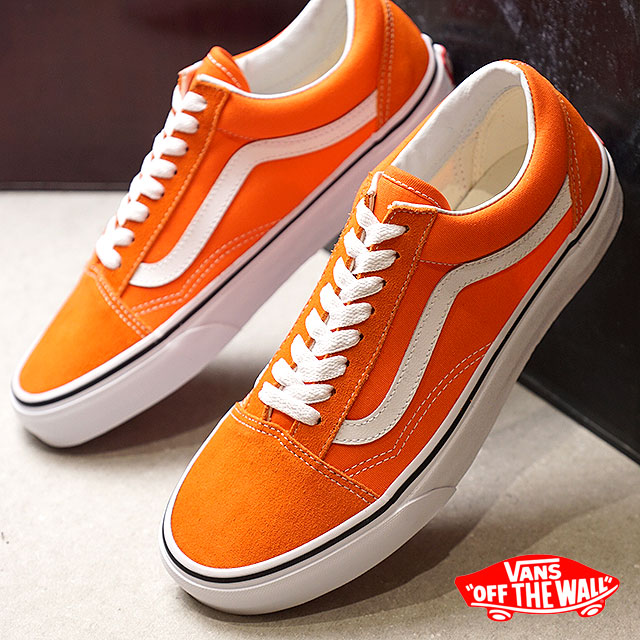 online store c9fc1 12827 VANS vans men Lady s sneakers shoes Old Skool old school flame t. white  orange ...