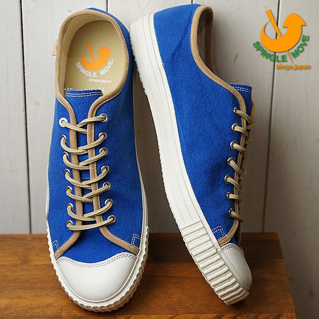 【即納】【返品送料無料】SPINGLE MOVE スピングルムーブ SPM-324 キャンバススニーカー Blue メンズ 靴 スピングル ムーヴ (SPM324-38 SU18)【コンビニ受取対応商品】
