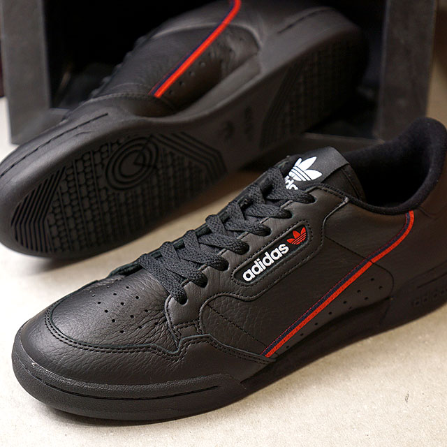 cac20ac05be3 adidas Originals Adidas originals CONTINENTAL 80 Continental 80 men s  sneakers shoes C black   scarlet  C navy (B41672 FW18)