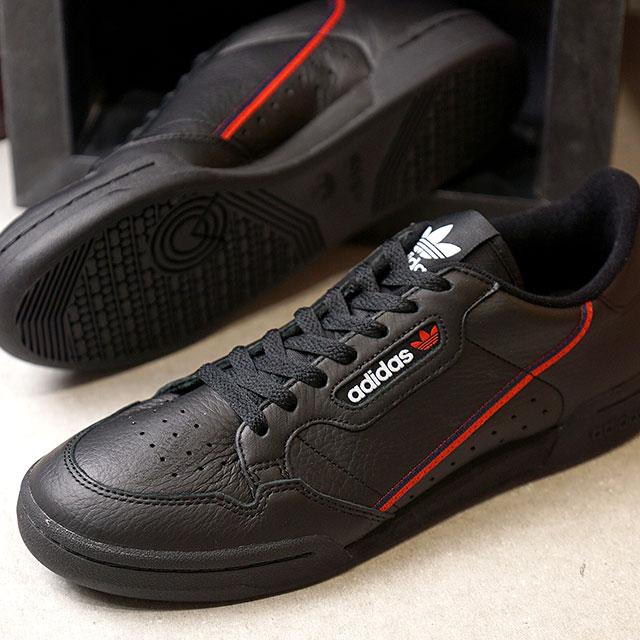 【在庫限り】adidas Originals アディダス オリジナルス CONTINENTAL 80 コンチネンタル80 メンズ スニーカー 靴 Cブラック/スカーレット/Cネイビー (B41672 FW18)【ts】【e】【コンビニ受取対応商品】