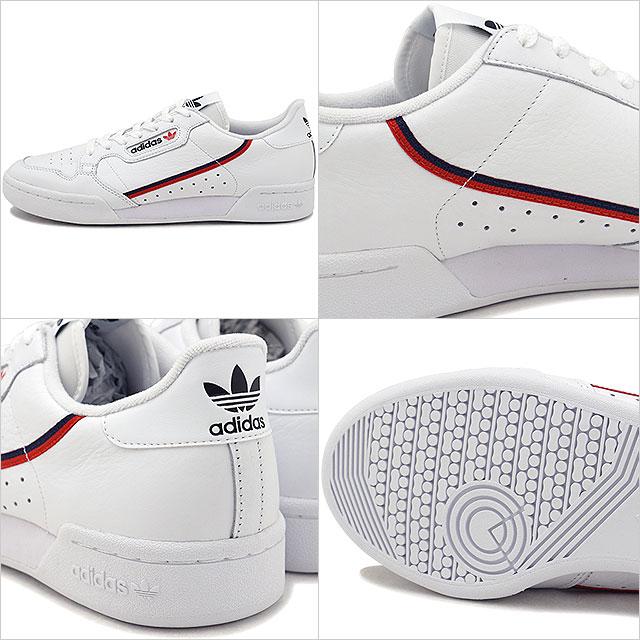adidas Originals Adidas originals CONTINENTAL 80 Continental 80 men's sneakers shoes R white scarlet C navy (B41674 FW18)
