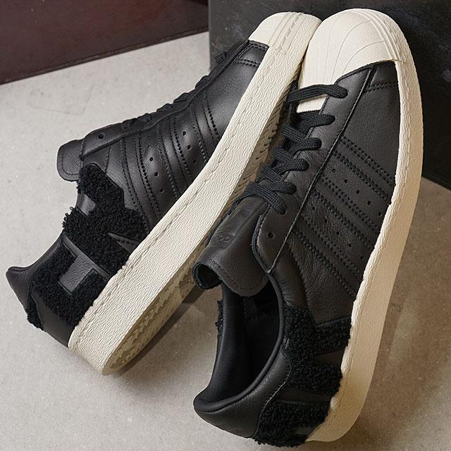 【在庫限り】adidas Originals アディダス オリジナルス SUPERSTAR 80s スーパースター 80s メンズ スニーカー 靴 Cブラック/Cブラック/Oホワイト (AQ0883 FW18)【ts】【コンビニ受取対応商品】