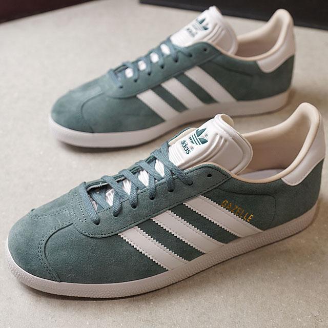adidas Originals Adidas originals Lady's GAZELLE W gazelle Win men sneakers shoes Roeg Lean F18R white linen S17 (B41661 FW18)