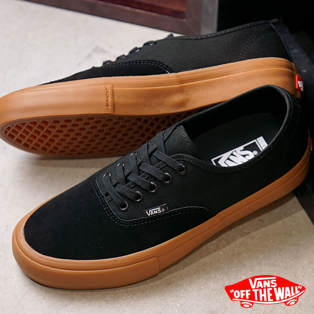 VANS station wagons AUTHENTIC PRO authentic professional vans sneakers  shoes BLACK/CLASSIC GUM (VN000Q0DDUM FW18)