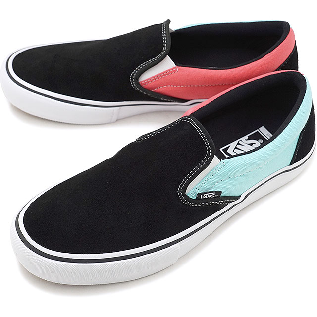9592b540ac VANS station wagons ASYMMETRY asymmetric SLIP-ON slip-on pro slip-ons vans  sneakers shoes BLACK BLUE ROSE (VN00097MU28 FW18)