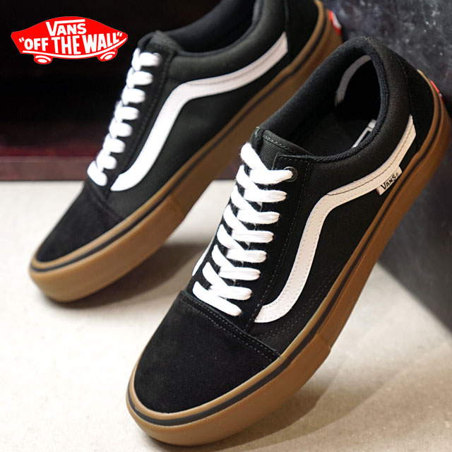 7654b7b6 VANS station wagons OLD SKOOL PRO old school pro vans sneakers shoes  BLACK/WHITE/MEDIUM GUM (VN000ZD4BW9 FW18)