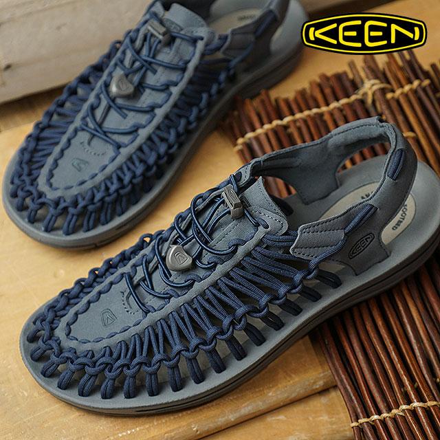 キーン KEEN メンズ ユニーク MEN UNEEK サンダル スニーカー 靴 Dark Slate/Blue Nights (1019935 FW18)【コンビニ受取対応商品】