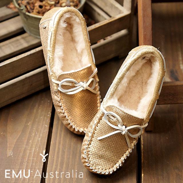 【在庫限り】emu エミュー オーストラリア スエードモカシンAMITY METALLIC アミティー メタリック レディース 靴 ROSE GOLD (W11438)【ts】【コンビニ受取対応商品】, 川本町:9f640cd8 --- lovetime.jp