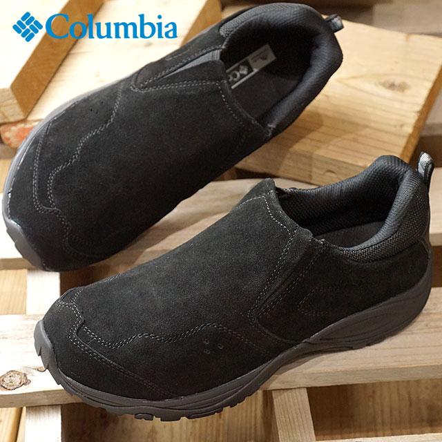 【在庫限り】コロンビア Columbia セイバーモック ウォータープルーフ SABER MOC WP メンズ レディース 防水 スニーカー ウォーキングシューーズ 靴 ブラック (YU3862-010)【ts】【コンビニ受取対応商品】