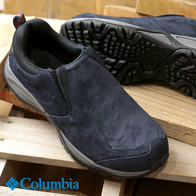 【在庫限り】コロンビア Columbia セイバーモック ウォータープルーフ SABER MOC WP メンズ レディース 防水 スニーカー ウォーキングシューーズ 靴 アビス (YU3862-439)【ts】【コンビニ受取対応商品】