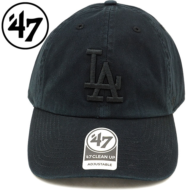 best cheap 36627 e0bb1 Forty seven  47 cap MLB Dodgers Black Tonal  47 CLEAN UP Los Angeles Dodgers  ...