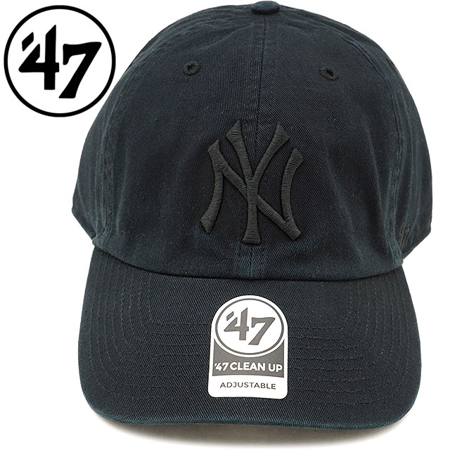 finest selection 32ef8 6cff8 Forty seven  47 cap MLB Yankees Black Tonal  47 CLEAN UP New York Yankees  ...