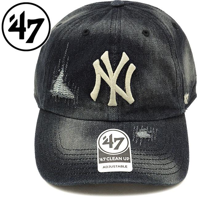 4a99a0c1448 Forty seven  47 cap MLB Yankees Loughlin  47 CLEAN UP New York Yankees men  gap Dis adjuster bulldog hat BLACK (LGHLC17DM SS18)
