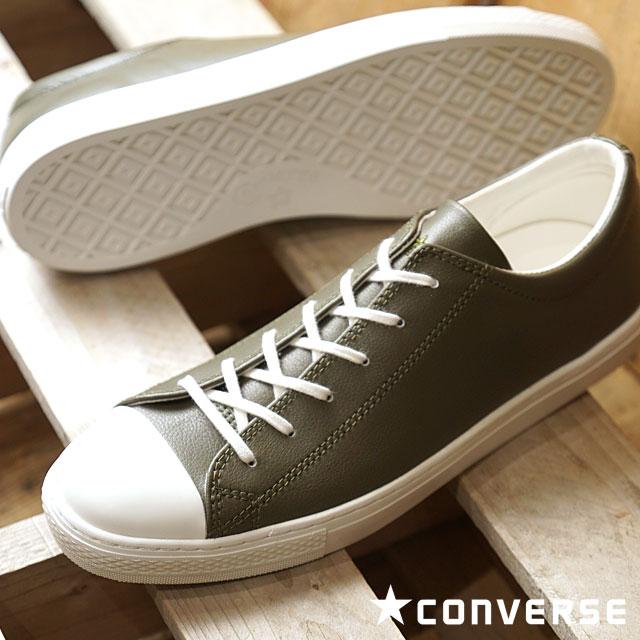 【即納】CONVERSE コンバース オールスター クップ レザー ローカット スニーカー 靴 ALL STAR COUPE LEATHER OX オリーブ (32149054 FW18)【コンビニ受取対応商品】
