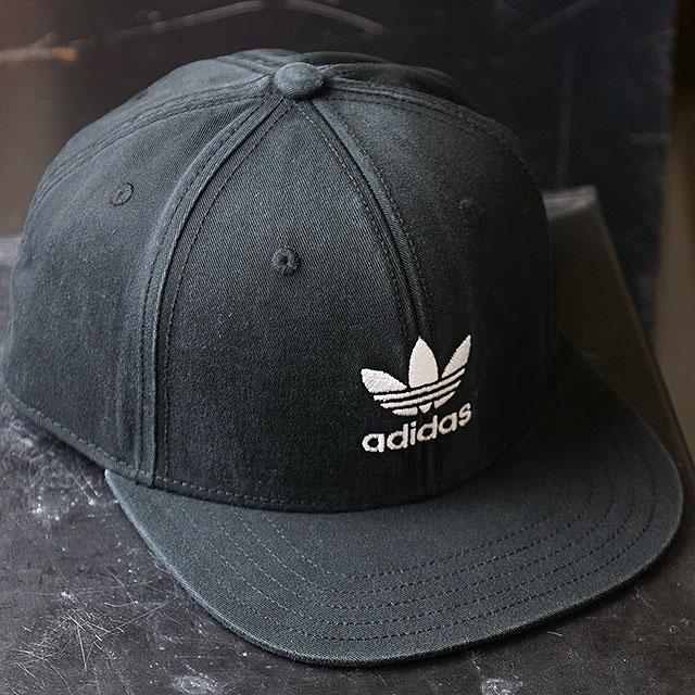 69d098730e4e9 Adidas originals adidas Originals flat visor cap AC TREFOIL FLAT CAP  トレフォイルフラットキャップスナップバックメンズレディース hat black   white ...