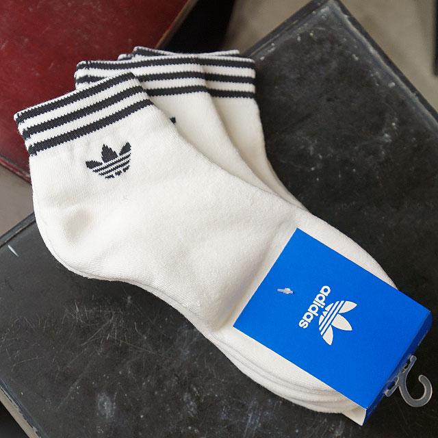 a0b2ab2a7185 Adidas originals adidas Originals 3 pack ankle socks TREFOIL ANK SOCKS  トレフォイルスニーカーソックスメンズレディース socks white (BSK46 AZ6288 SS19)