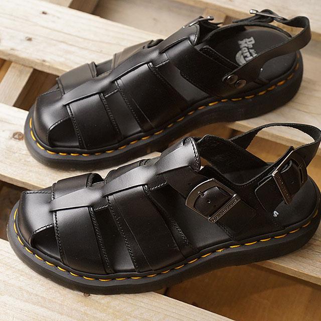 【即納】ドクターマーチン Dr.Martens フィッシャーマンサンダル KASSION BRANDO メンズ レディース レザーサンダル 靴 BLACK (24629001 SS19)