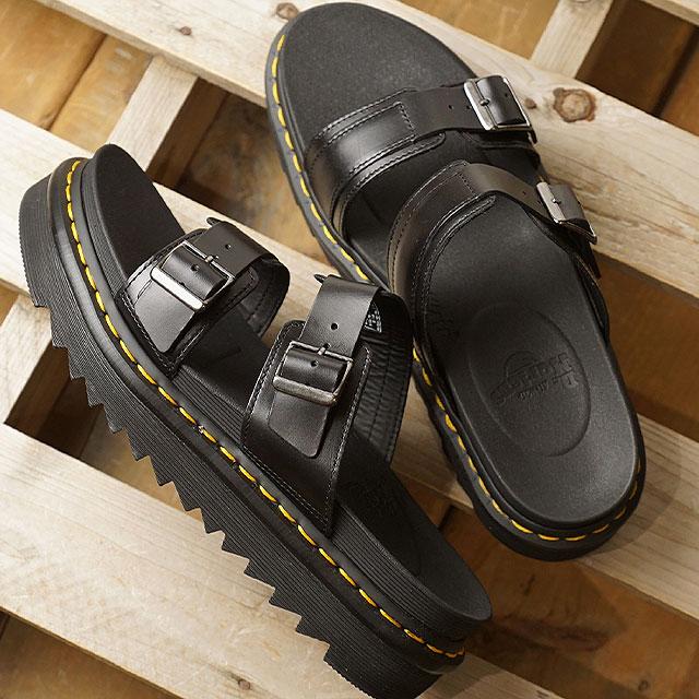 dbedd237a368cc Doctor Martin Dr.Martens leather sandals Myles MILES BRANDO men gap Dis shoes  BLACK (23523001 SS19)