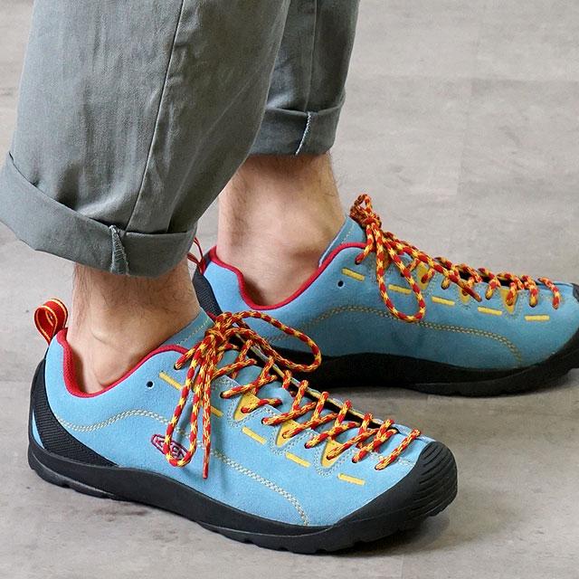 【月間優良ショップ】キーン KEEN メンズ ジャスパー MEN JASPER アウトドア スニーカー 靴 Ethereal Blue/Lemon Chrome (1020303 SS19)【e】【ts】