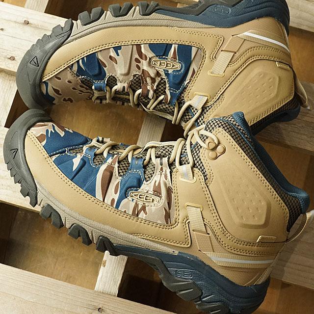 fc22e93aa65 Kean KEEN men Targhee E X P mid waterproof MEN TARGHEE EXP MID WP trekking  boots shoes Desert Dawn/Sand Wave (1020728 SS19)