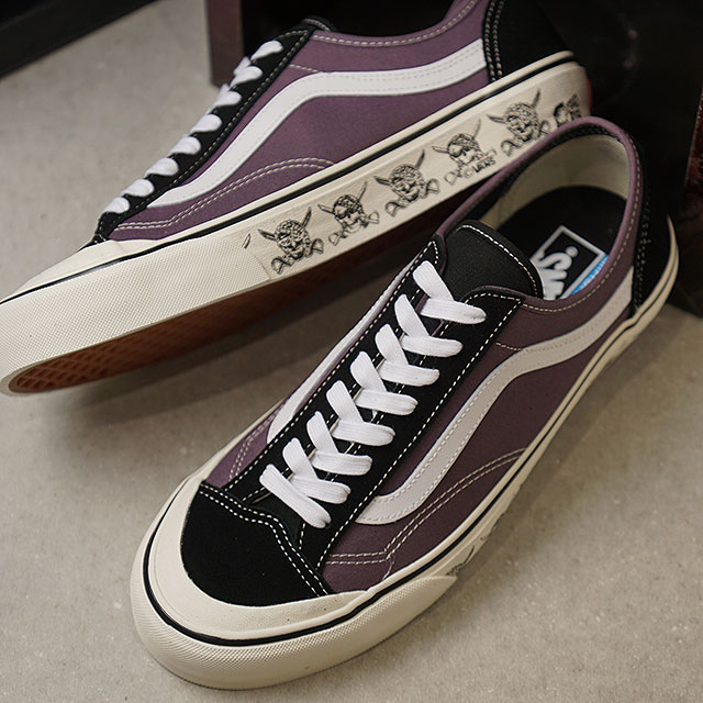 8e6cd3128509 SHOETIME  36 vans VANS scull-style SKULLS STYLE 36 DECON SF men station  wagons sneakers shoes BLACK PLUM MARSHMALLOW (VN0A3MVLVLB SS19)