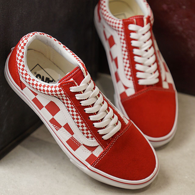 859d0fcc612 Vans VANS mixture checker old school MIX CHECKER OLD SKOOL Lady s station  wagons sneakers shoes CHILI PEPPER TRUE WHITE (VN0A38G1VK5 SS19)