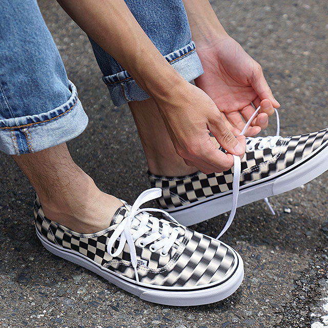 ogromna zniżka tani sklep Vans VANS ブラーチェックオーセンティック BLUR CHECK AUTHENTIC men Lady's station wagons  sneakers shoes BLACK/CLASSIC WHITE (VN0A38EMVJM SS19)