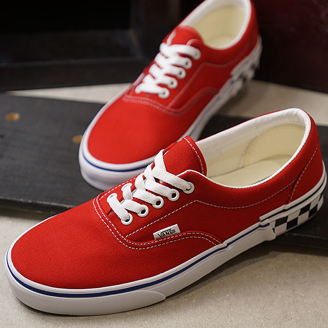 Vans VANS check block gills CHECK BLOCK ERA men station wagons sneakers  shoes TANGO RED (VN0A38FRVOR SS19) e2ec2236c6d