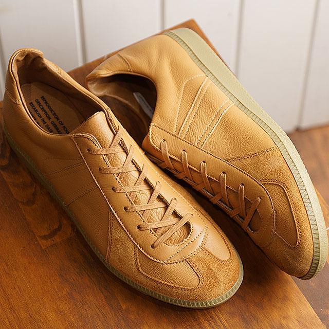 【即納】リプロダクション オブ ファウンド REPRODUCTION OF FOUND ジャーマン ミリタリー トレーナー GERMAN MILITARY TRAINER メンズ レディース ジャーマントレーナー スニーカー 靴 LIGHT CAMEL (1700L SS19)