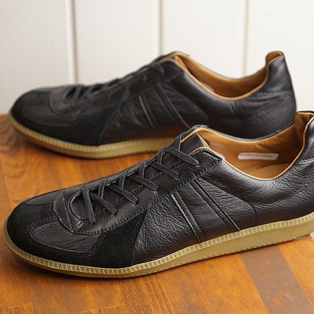【月間優良ショップ】リプロダクション オブ ファウンド REPRODUCTION OF FOUND ジャーマン ミリタリー トレーナー GERMAN MILITARY TRAINER メンズ レディース ジャーマントレーナー スニーカー 靴 BLACK (1700L SS19)