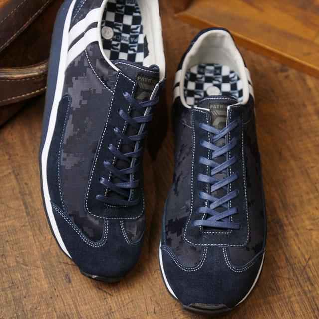 【即納】【返品送料無料】パトリック PATRICK マイアミ・カムフラージュ MIAMI-CA メンズ レディース 日本製 スニーカー 靴 ネイビー系 NVY (531052 SS19)