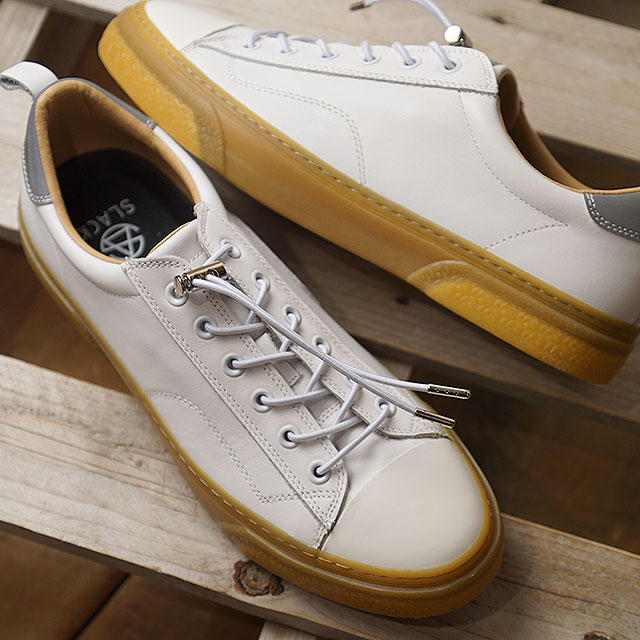 【即納】スラック SLACK クルード SL CLUDE SL メンズ レディース スニーカー 靴 WHITE/GUM ホワイト系 (SL1502-189 SS19)