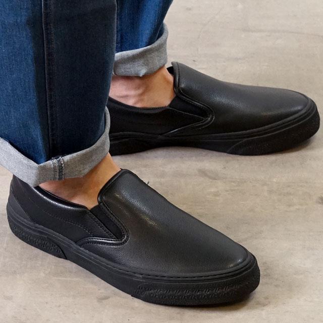 サイズ交換片道送料無料 レビューで500円CPプレゼント/日本正規品 SLACK スラック スラック SLACK カーマー LX スリップオン CALMER LX SLIP-ON メンズ レディース スリッポン スニーカー 靴 BLACK/BLACK ブラック系 (SL1225-003 SS19)