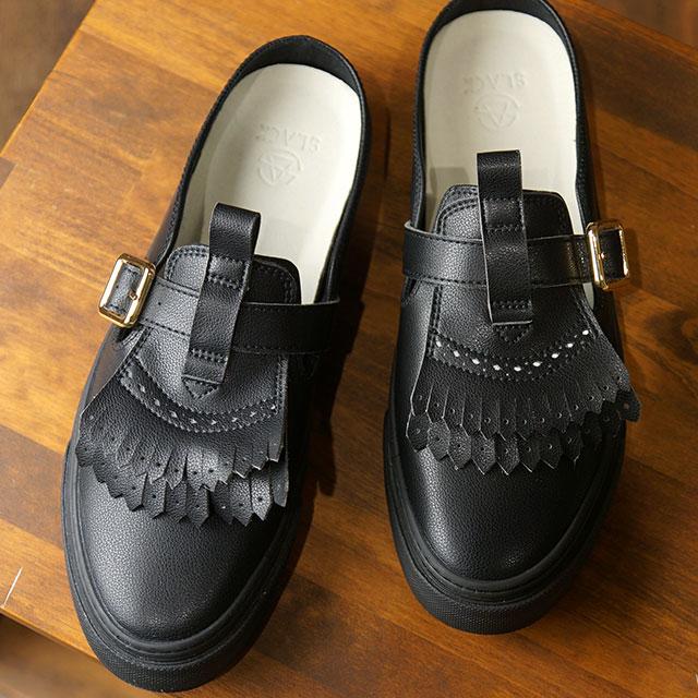【即納】スラック SLACK メイビス MAVIS メンズ レディース クロッグ スニーカー 靴 BLACK/BLACK ブラック系 (SL1569-003 SS19)