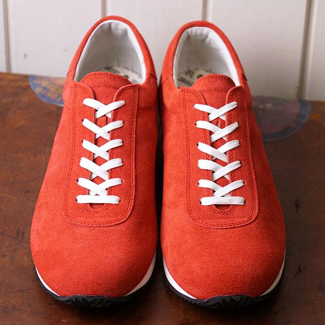 【即納】ブルーオーバー blueover マイキー MIKEY メンズ 日本製 ベロアレザー スニーカー 靴 RED レッド系 (SS19)
