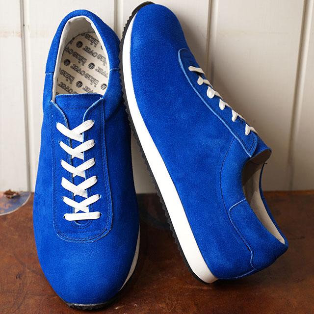 【即納】ブルーオーバー blueover マイキー MIKEY メンズ 日本製 ベロアレザー スニーカー 靴 BLUE ブルー系 (SS19)