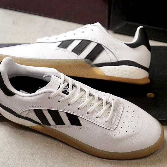 【即納】アディダス スケートボーディング adidas SKATEBOARDING メンズ 3ST.004 スケートシューズ スニーカー 靴 R.WHITE/C.BLACK ホワイト系 (DB3153 SS19)