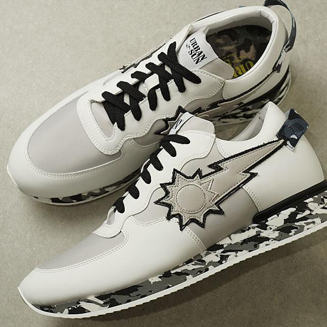 【即納】【日本限定】アーバンサン URBAN SUN メンズ アンドレ ANDRE232 イタリア スニーカー 靴 ホワイト/ブラック カモ ホワイト系 (SS19)